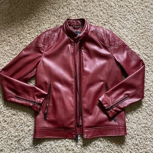 Guess Red Leather Jacket size Small